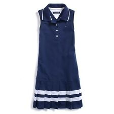 NWT Tommy Hilfiger Kids Girls Polo Dress Navy White XS(4-5) S (6-7)