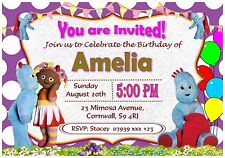 Personalised In the Night Garden Birthday Invitations Party Invites - I63