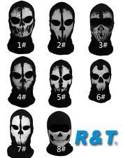 Call Of Duty Balaclava face ghost skull mask biker skateboard Cosplay Costume