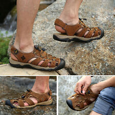 Men Genuine Leather Fisherman Shoes Beach Summer Outdoor Sport Sandals Shoes HOT