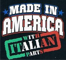 MADE IN AMERICA WITH ITALIAN PARTS Kids T-Shirt 2-4=XS 6-8=SM 10-12=MD 14-16=LG