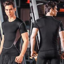 Mens Tight Tops Compression Baselayer Body Thermal Under Base Layer Skin T-Shirt
