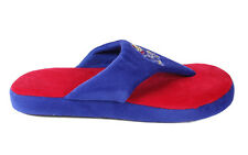 Happy Feet Mens and Womens Kansas Jayhawks Comfy Flop Slippers