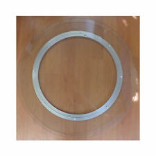 LAZY SUSAN Clear Glass 8mm Tempered Turntable Serving Plate Rotating Tray