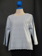 Vintage Boho Tunic Tank Top Long Sleeve Casual Summer Lace Cotton Blouse  Shirt
