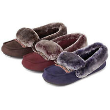 isotoner Pillowstep Moccasin with Fur Cuff Slippers
