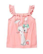 NWT Gymboree Girls Ice Cream Parlor Easter Bunny Ruffle Bow Top Size 4 5 7 8 10