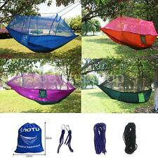 Outdoor Swing Hammock Tree Double Person Mosquito Net Patio Bed Ground Sheet Pad