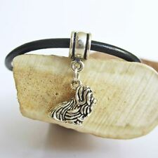 Shih Tzu Large Sterling Silver European-Style Charm and Bracelet- Free Shipping