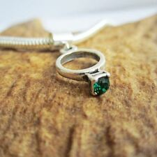 Green Birthstone Ring European-Style Charm and Bracelet- Free Shipping