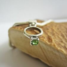 Light Green Birthstone Ring European-Style Charm and Bracelet- Free Shipping
