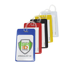 5 Pack - Backpack ID Tags - Bold Colors for Bag & Luggage Identification