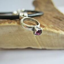 Purple Birthstone Engagement Ring European-Style Charm and Bracelet- Free Ship