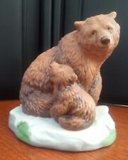 FRANKLIN MINT 1989 GRIZZLY BEAR FIGURINE 3.5''