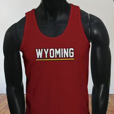 State City Travel Tourist Tour Wyoming Vacation Proud Mens Red Tank Top