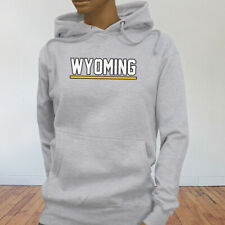 State City Travel Tourist Tour Wyoming Vacation Proud Womens Gray Hoodie