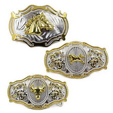 Men Vintage Metal Big Bull Horse Rider Rodeo Belt Buckle Cowboy Texas Western G
