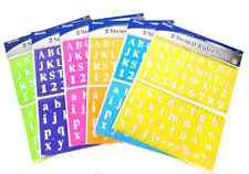 A Stencil Ruler Set Uppercase Lowercase Alphabet & Number Inch Metric Scales