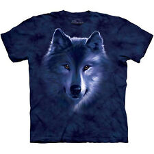 WOLF FADE T-Shirt by The Mountain Big Face Wolves Head Adult Tee Sizes S-3XL NEW