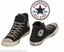 CONVERSE VINTAGE INSPIRED CHUCK TAYLOR ALL STAR BLACK HI TOPS - UK 8,9,10