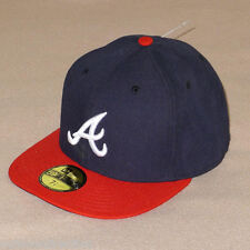 New Era Atlanta Braves Navy AC On-Field Home Fitted 59FIFTY Baseball Hat - NWT!
