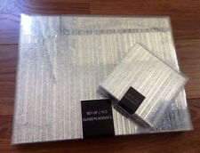 Set Of 8 Sparkle Glitter Placemats & 8 Coasters Silver/Gold Kitchen Dining Table
