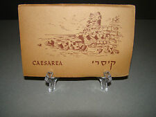 Vintage CAESAREA RUINS, ISRAEL, HEBREW (10) FOLD-OUT PHOTOS UNPOSTED POSTCARDS