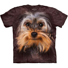 YORKSHIRE TERRIER FACE T-Shirt The Mountain Big Head Yorkie Dog Sizes S-3XL NEW