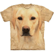 YELLOW LAB PORTRAIT T-Shirt The Mountain Labrador Retriever Big Face Dog S-3XL