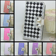 Shine Bling Crystal Diamonds PU leather flip slots stand wallet case cover 39