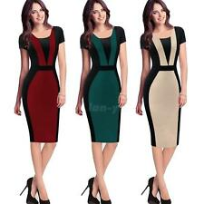 Women Business Party Evening Formal OL Work Office Bodycon Pencil Dress