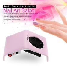 Anself 30W Nail Art Salon Suction Dust Collector Machine Comfortable M0Y0