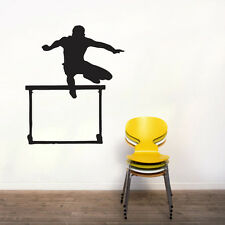 Hurdler Wall Decal - Track and Field - Sports Man Cave Kids Room Stickers Decals