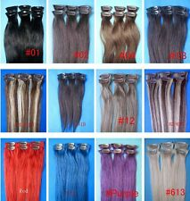 """clip in hair extensions 100% remy human hair extensions 20""""L 6pcs 30gr straight"""