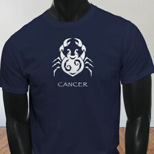 Water Moon Ruby Zodiac Cancer White Crab Astrological Sign Mens Navy T-Shirt