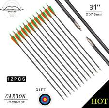 "Cool 30"" Archery Hunting Mix Carbon Arrows for Compound &Recurve Bow Field Point"