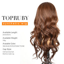 TOPRUBY Synthetic Hair Wigs Heat Resistant Lace Front Wavy Synthetic Hair Wigs