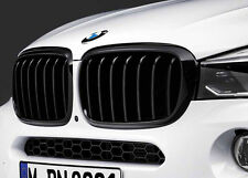 BMW OEM M Performance Black Kidney Grille SET F16 X6, F15 X5 51712334708/710