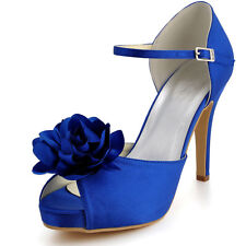EP2020 Peep Toe Sandals High Heel Flowers Buckles Party Wedding Bridal Shoes