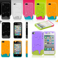 Back Case Cover Pattern Snap On 3D Melt Ice Cream Hard For Apple iPhone 4S 5S