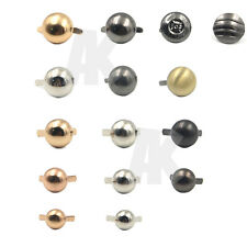 50/100/200pcs Round Metal Feet Leather Nailhead Stud Spike for Purse Handbag bag