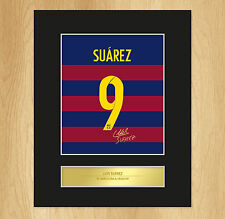 Luis Suarez Signed Mounted Artistic Photo Display Barcelona