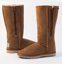 Tall Ugg Boots with Zip / Zipper Australian Made Size 8 / 9 - STOCK CLEARANCE