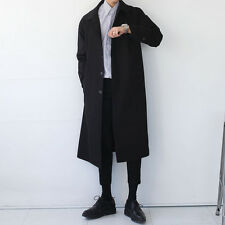 Mens Unique Italian Classic Casual Long Trench Coat Jacket Overcoat Outwear