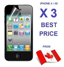 3X 5X 6X 10X 25X 50X IPHONE 4 4S 4G SCREEN PROTECTOR CLEAR LOT FRONT FOR APPLE