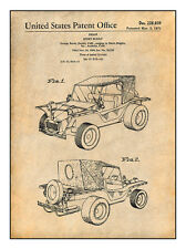 1971 George Barris Sport Buggy Patent Print Art Drawing Poster 18X24