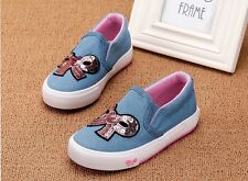 2016 Autumn Children's Sport Shoes Girl Denim Canvas Shoes Slip-On Casual Shoes