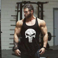 Men's The Publisher Front Flank Design Sleeveless Fit Gym Tank Tops Undershirt