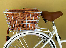 Ladies Bike Rear Basket - Including white wire outer basket