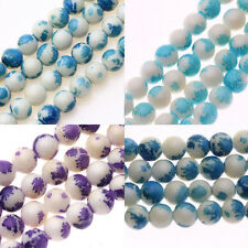 HOT 25/50Pcs 8MM Round Painted Pearl Chic Glass Loose Spacers Charm Beads